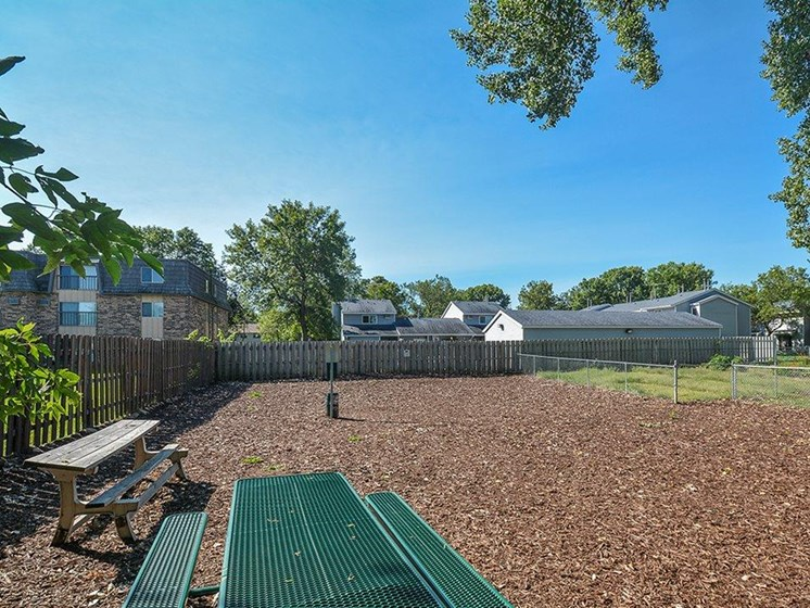 Pet friendly dog park at Upper Town Apartments in St. Cloud, MN.