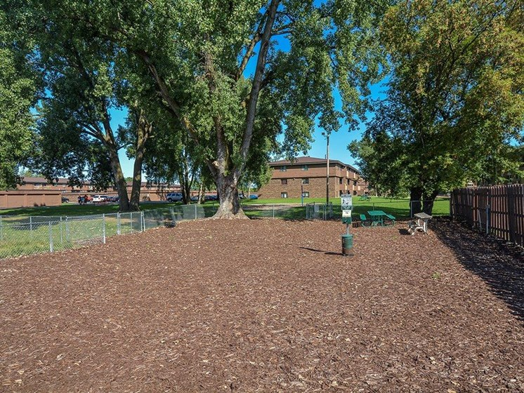 Dog park at Upper Town Apartments in St. Cloud, MN.