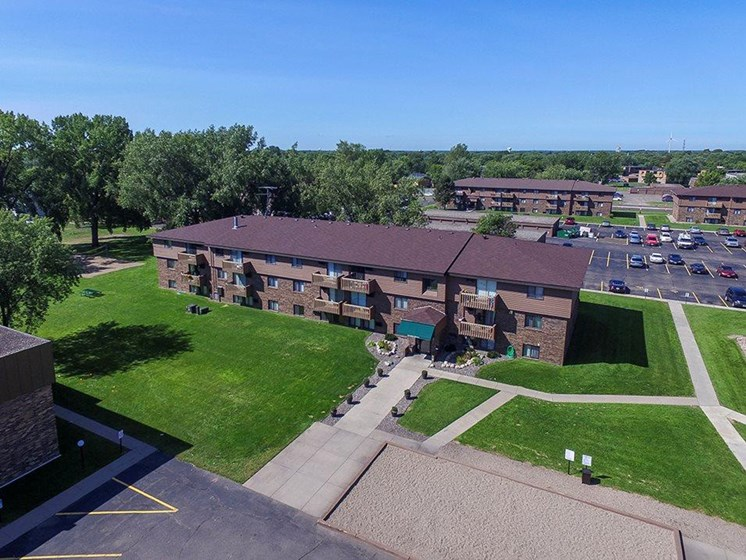Ariel view of Upper Town Apartments in St. Cloud, MN.