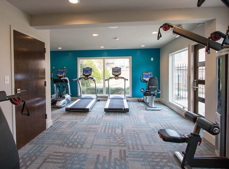 Health and Fitness Center Fully Equipped with Cardio and Strength Training Equipment at Artesian East Village, Atlanta, GA 30316