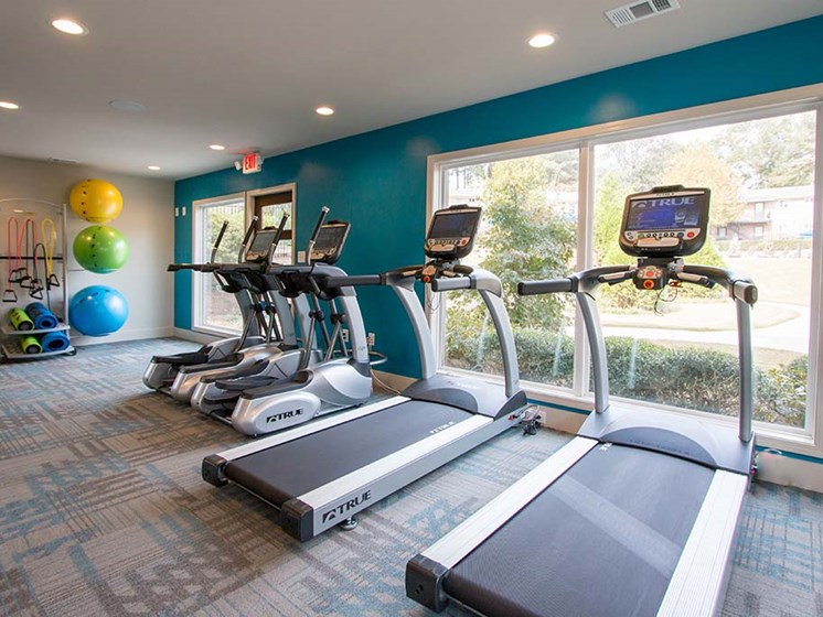 Health and Fitness Center Fully Equipped with Kettle Bells, Yoga & Exercise Balls, Resistance Bands and Cardio Equipment at Artesian East Village, Atlanta, GA 30316
