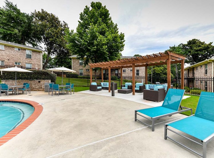Refreshing Swimming Pool and Relaxing Lounge Cabana Areas at Artesian East Village, Atlanta, GA 30316
