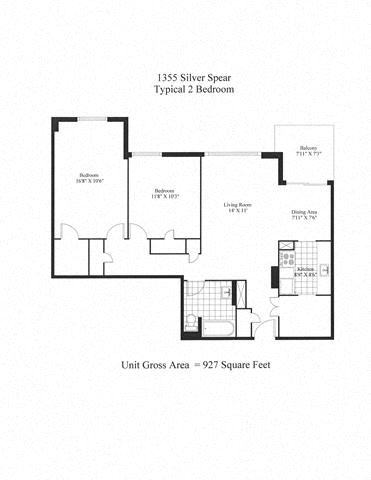 Silver Spear 2 Bedroom A
