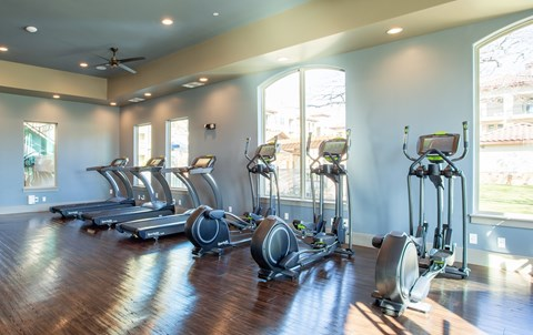 Exercise Equipment at MELA Luxury Apartments