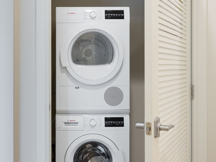 In-suite Bosch washer and dryers - 28 Austin in Newton, MA