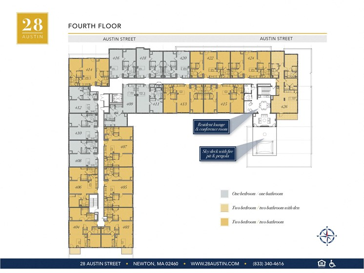 Map of Fourth Floor at 28 Austin St, Newton, Massachusetts