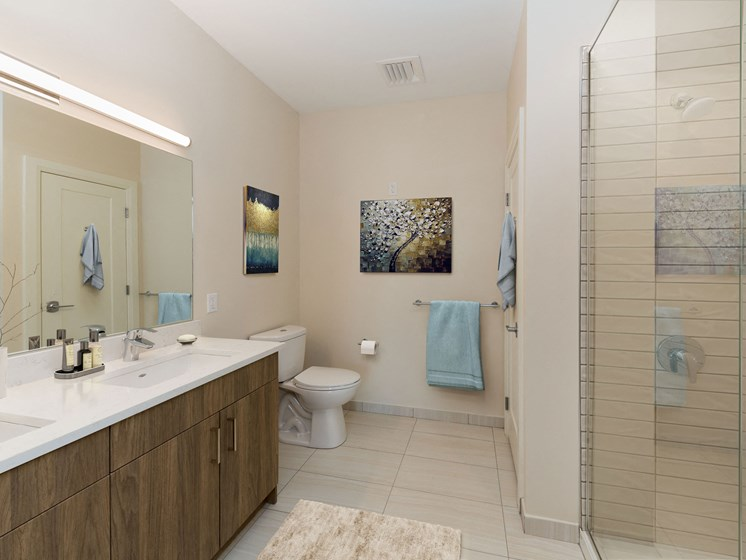 Well Appointed Bathroom with Dual-Sink Vanity