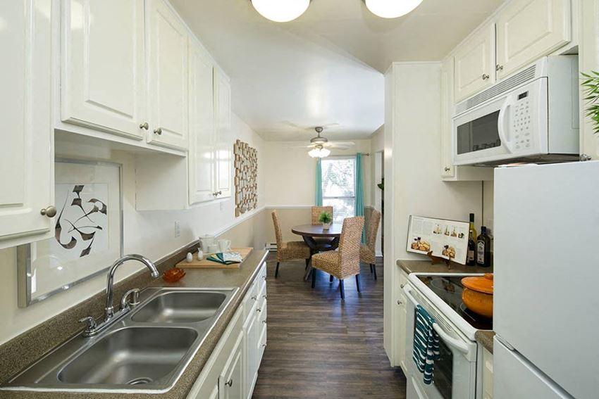 Kitchen at Bayside Apartments in Pinole, CA