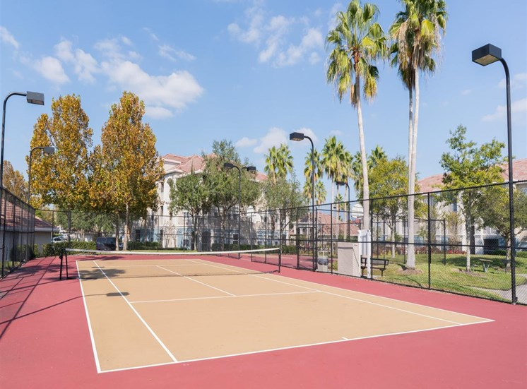 Tennis Court at The Boot Ranch Apartments, Palm Harbor, Florida