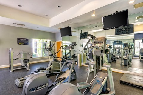 gym equipment in fitness center