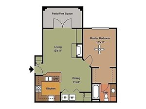 Remington At Lone Tree one bedroom apartment with balcony 661 sqft