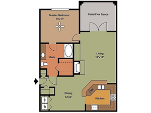 Remington At Lone Tree  one bedroom with washer dryer and large balcony/patio 829 sqft