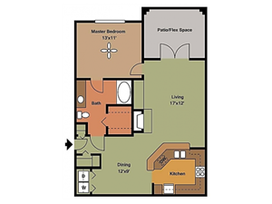 Remington At Lone Tree on bedroom apartment with balcony 949 sqft