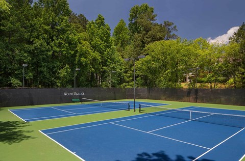 Refinished & upgraded tennis courts