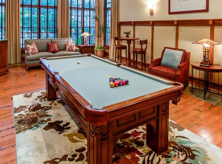 common area with billiards table