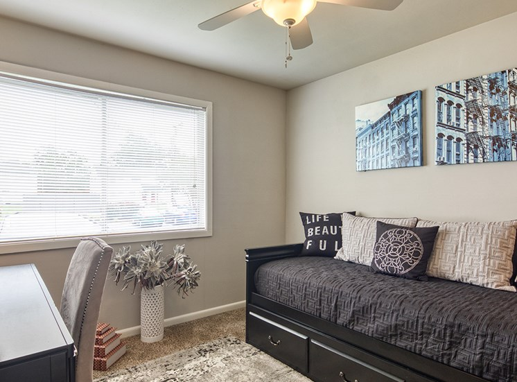 second bedroom at 11 North at White Oak Apartments