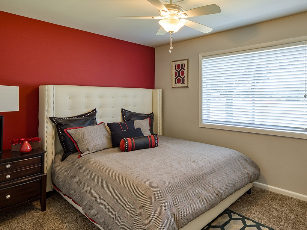Bedroom at 11 North at White Oak Apartments