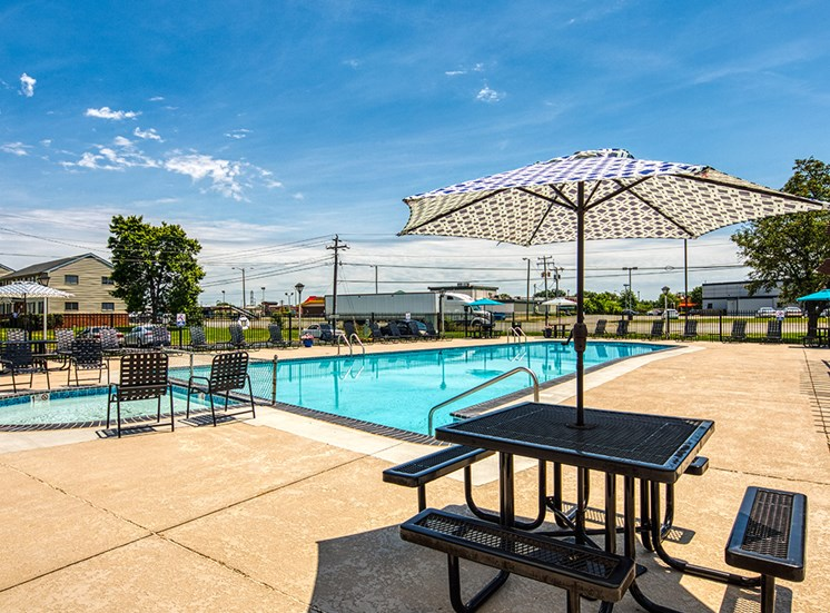 Sundeck at affordable apartments in Richmond Va