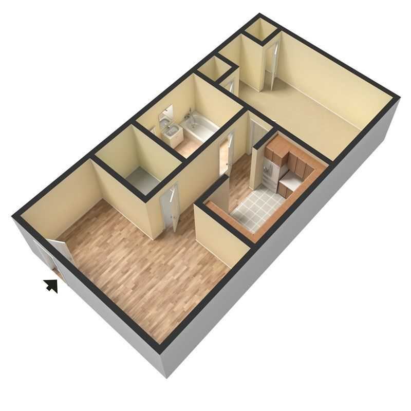3D Floor Plan Rendering for Douglas Square Apartments