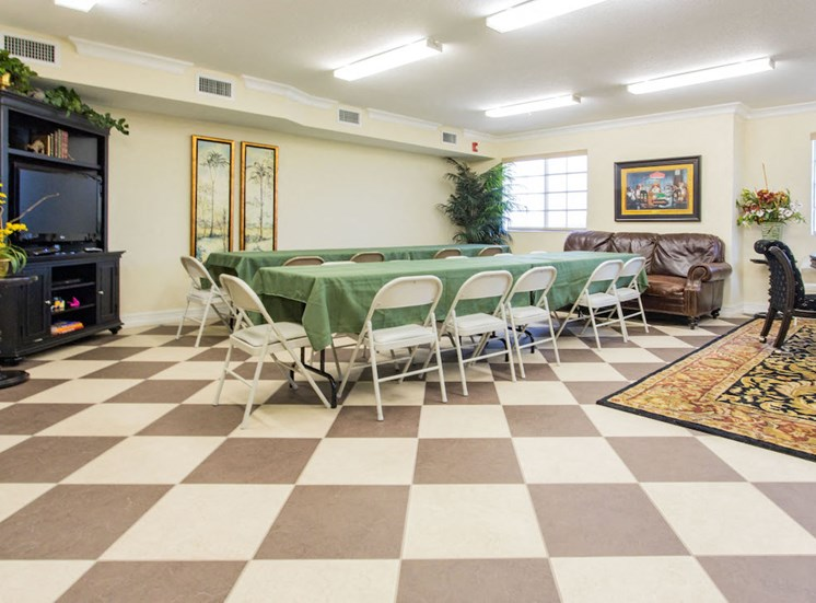 community room with dining tables