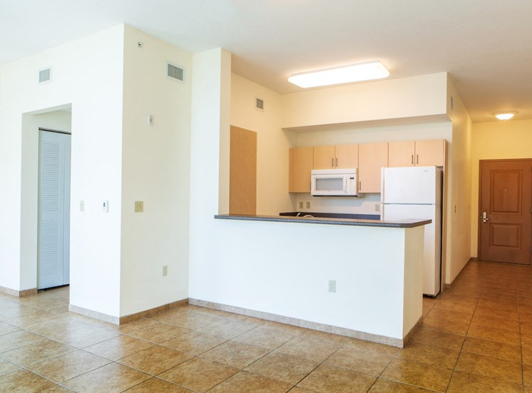 spacious floor plans with tile flooring