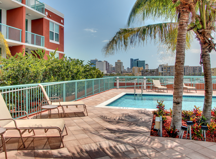 rooftop pool and recreation deck