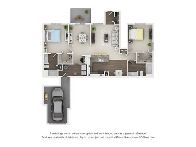 2 Bed 2 Bath Floor Plan at The Villages at Canterfield, Illinois, 60118