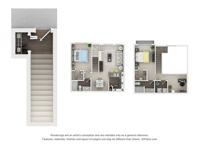 2 Bed 2 Bath- Elm - Splitlevel Floor Plan at The Villages at Canterfield, West Dundee, IL