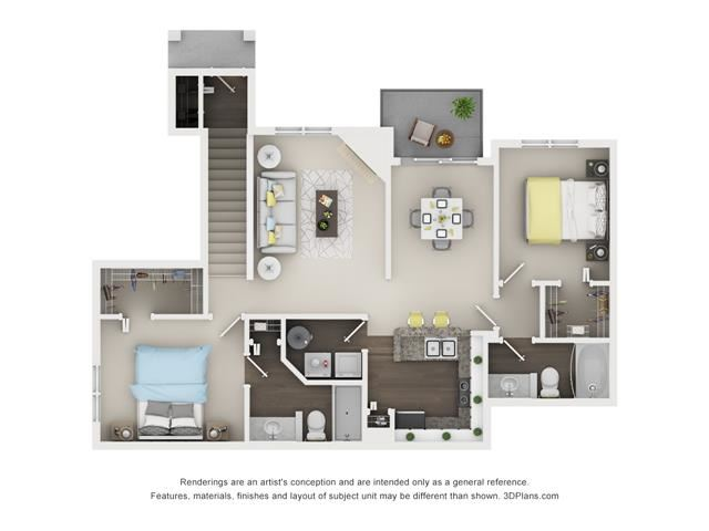 2 Bed 2 Bath- Juniper Floor Plan at The Villages at Canterfield, Illinois