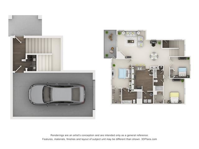 3 Bed 2 Bath - Magnolia Floor Plan at The Villages at Canterfield, Illinois