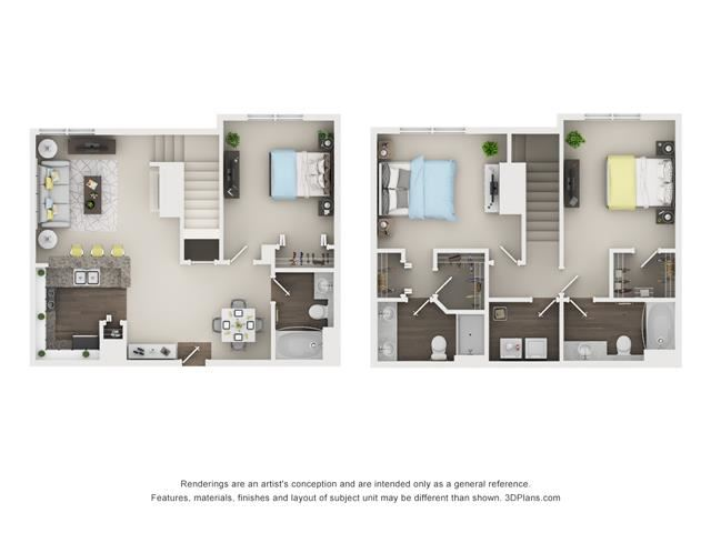 3 Bed 3 Bath - Acacia- 2 GAR Floor Plan at The Villages at Canterfield, West Dundee, IL