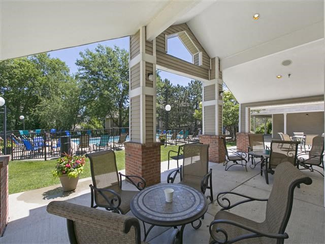 Shaded Outdoor Area With Sitting at Hunter's Glen, Aurora, Illinois