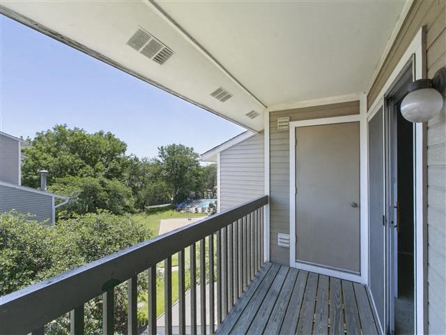 Private Balcony Area at Hunter's Glen, Aurora, IL, 60504