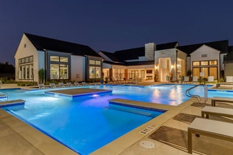 Pool with Ambient Lighting