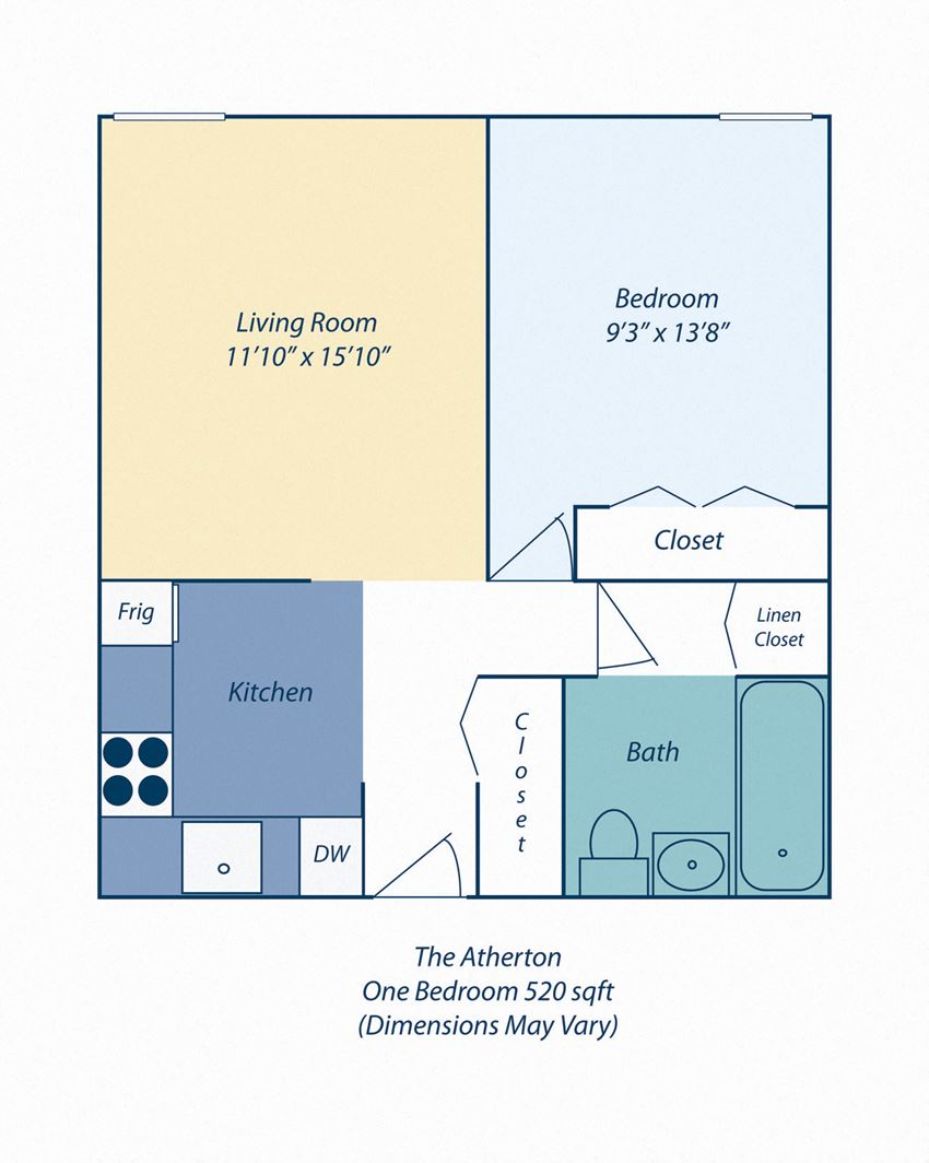 One Bedroom Apartment at The Atherton in Haverhill MA