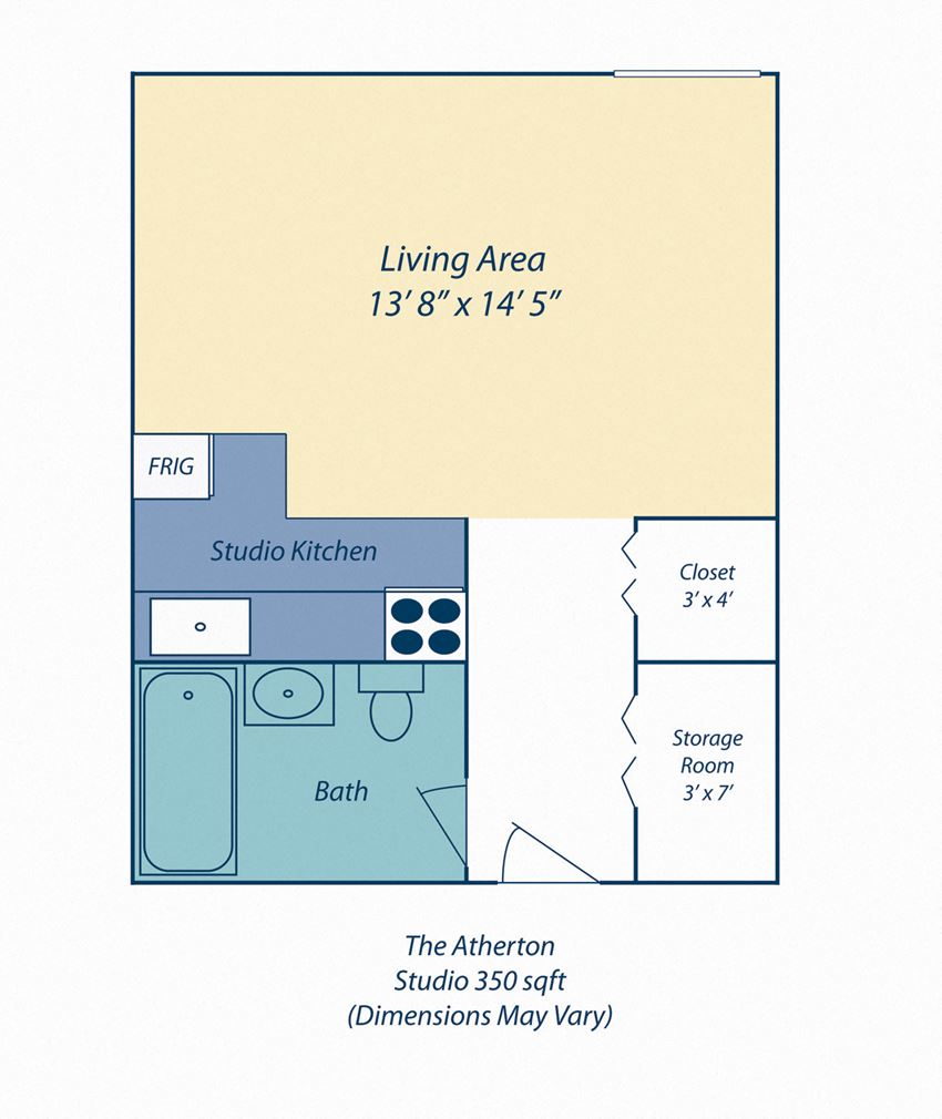 Studio Apartment For Rent at The Atherton Apartments in Haverhil MA