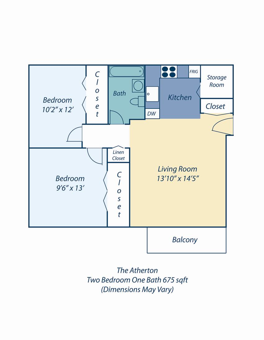 The Atherton Apartments Two Bedroom for Rent in Haverhill MA