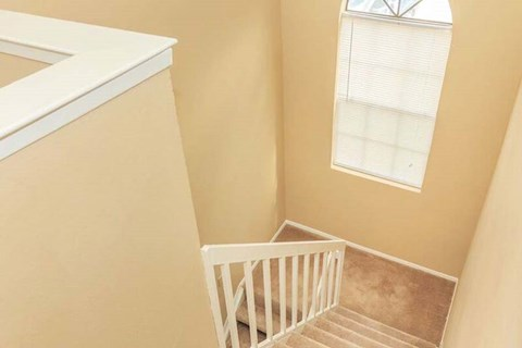 Staircase in Two Story Apartment Home