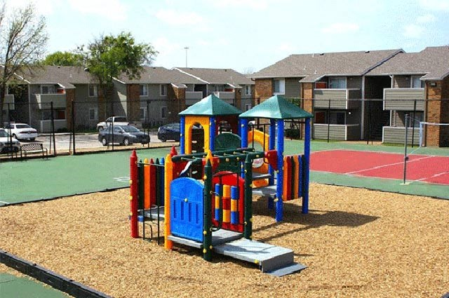 Outdoor Playground Area and Tennis Court