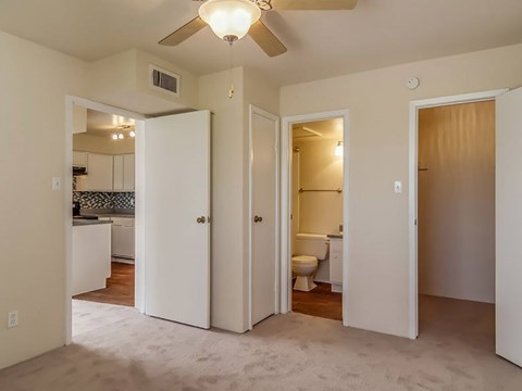 Each Master Bedroom has full carpet | Northwest Houston Apartments For Rent | Savoy Manor