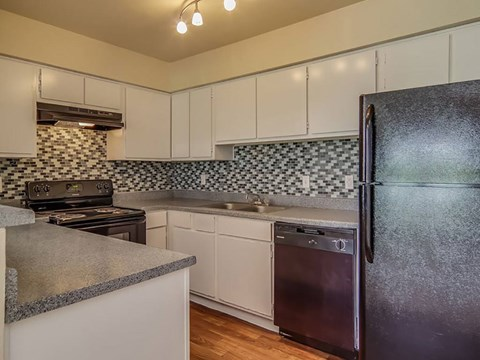 Stunning Backsplash in renovated units | Northwest Houston Apartments For Rent | Savoy Manor