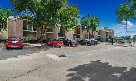 Gated Resident Parking | Northwest Houston Apartments For Rent | Savoy Manor