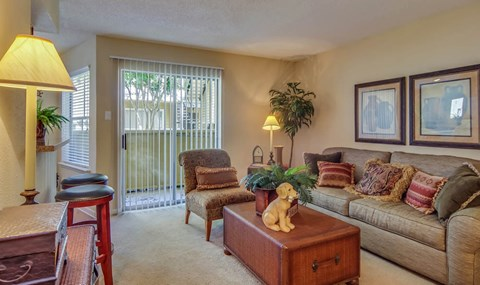Full Carpet Living Room  | Southwest Houston Apartments For Rent | Southpoint Apartments