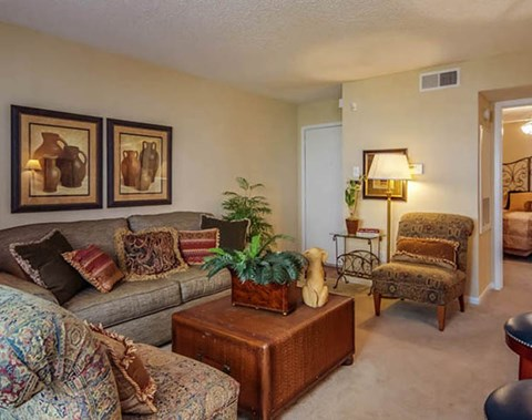 Spacious Living Room | Southwest Houston Apartments For Rent | Southpoint Apartments