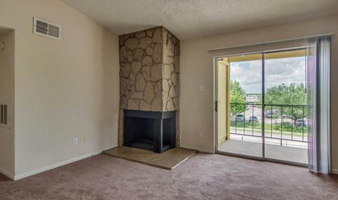 Stone Fireplaces are available on selected units  | Southwest Houston Apartments For Rent | Southpoint Apartments