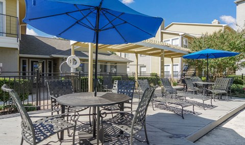 Lounge seating is available by the pools | Southeast Apartments For Rent | Southpoint Apartments