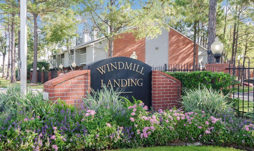 Windmill Landing Main Monument Sign | Houston Apartments For Rent | Windmill Landing Apartments