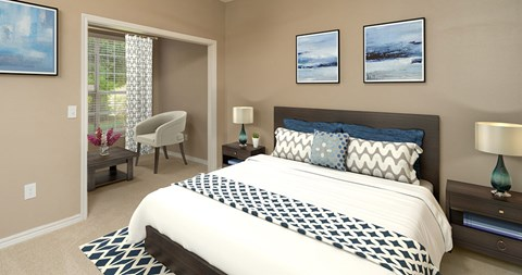 Master Bedroom at Piedmont at Ivy Meadow, North Carolina, 28213