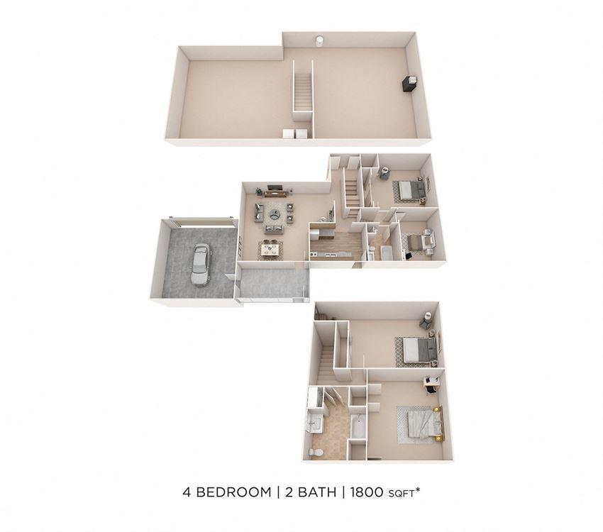 4 Bedroom, 2 Bath House