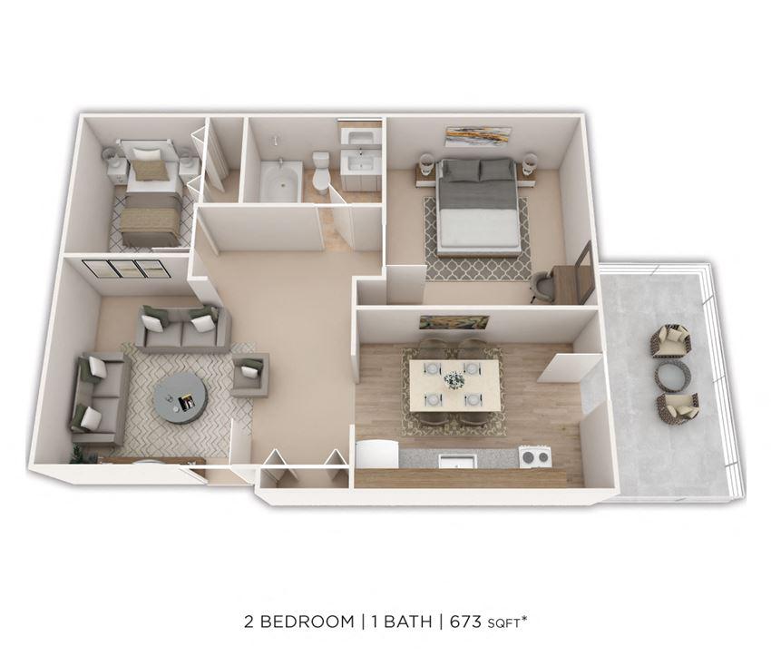 1 Bedroom, 1 Bath with Den